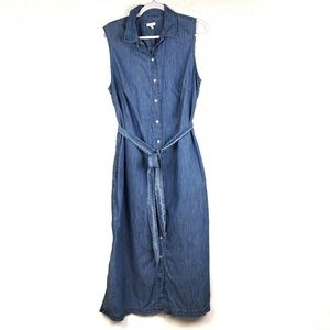Talbots Woman Chambray Maxi Dress